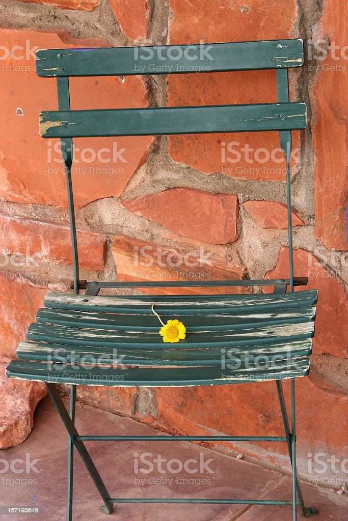 Portrait Of An Old Rural Chair royalty-free stock photo
