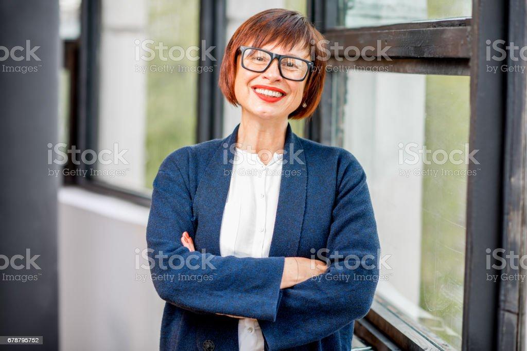 Portrait of an older elegant woman stock photo