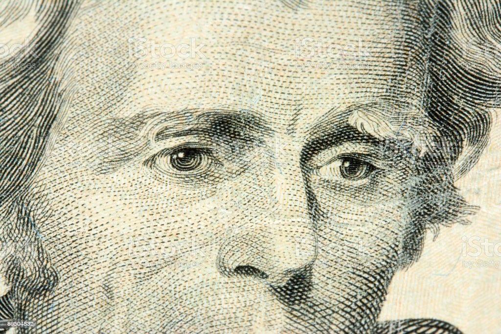 Portrait of Andrew Jackson stock photo