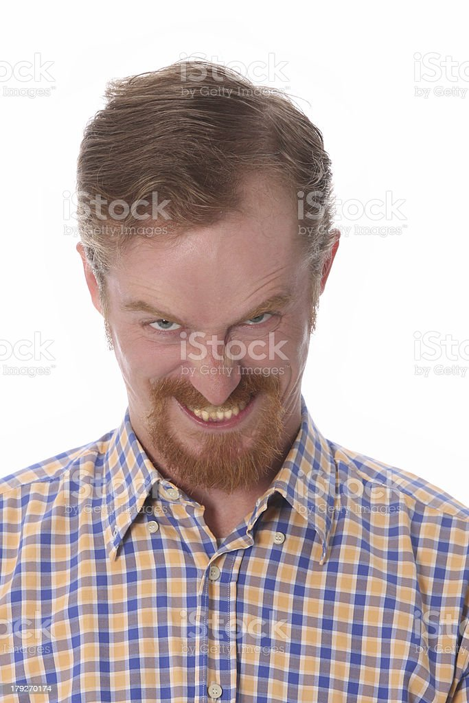 Portrait of angry man royalty-free stock photo