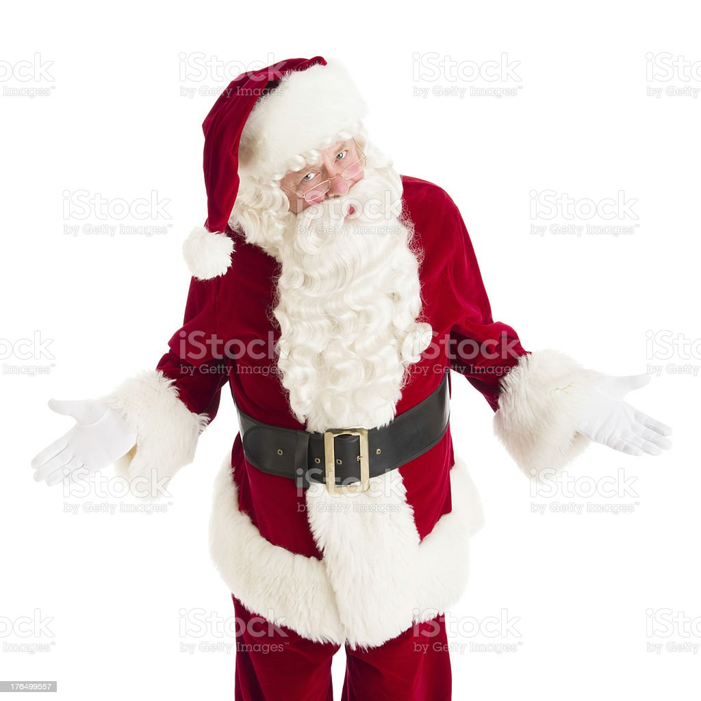 Portrait Of Angry Santa Claus Gesturing royalty-free stock photo