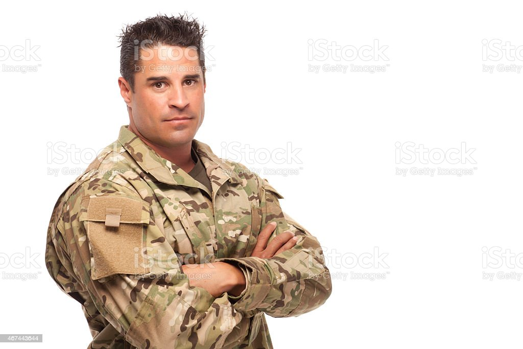 Portrait of Army Soldier stock photo