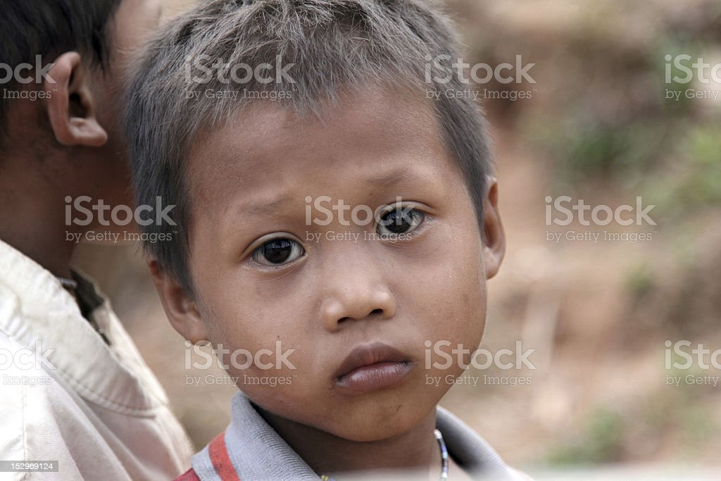 Portrait of Asia Children royalty-free stock photo