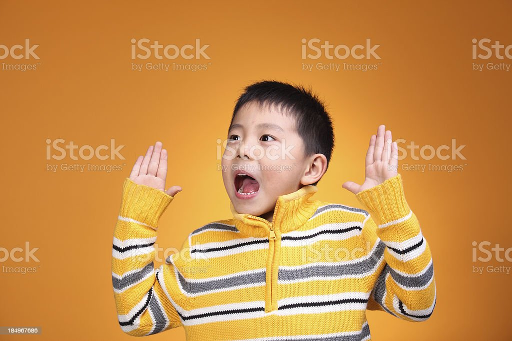 Portrait of Asian boy six years old royalty-free stock photo