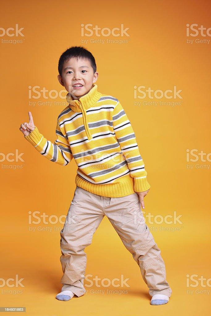 Portrait of Asian boy. Studio shot royalty-free stock photo