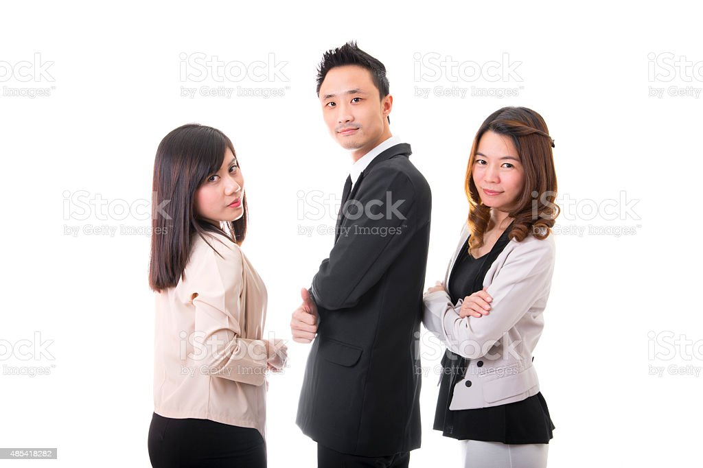 Portrait of Asian Business Team royalty-free stock photo