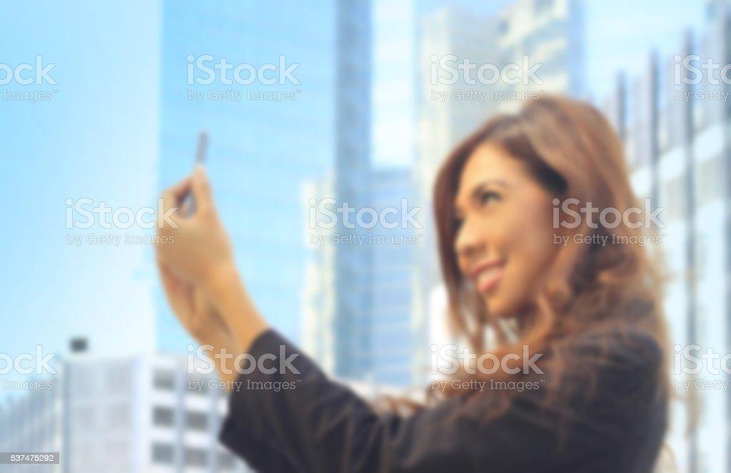 Portrait of Asian business woman stock photo