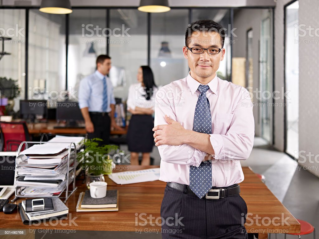 portrait of asian businessman stock photo