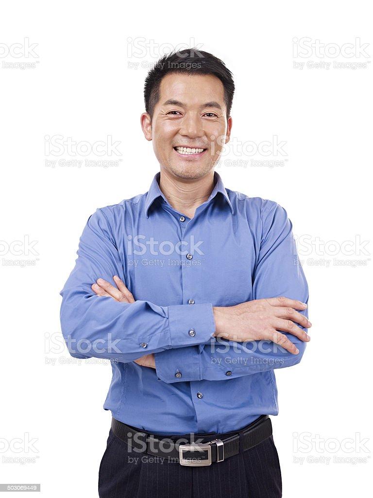 portrait of asian businessman stock photo