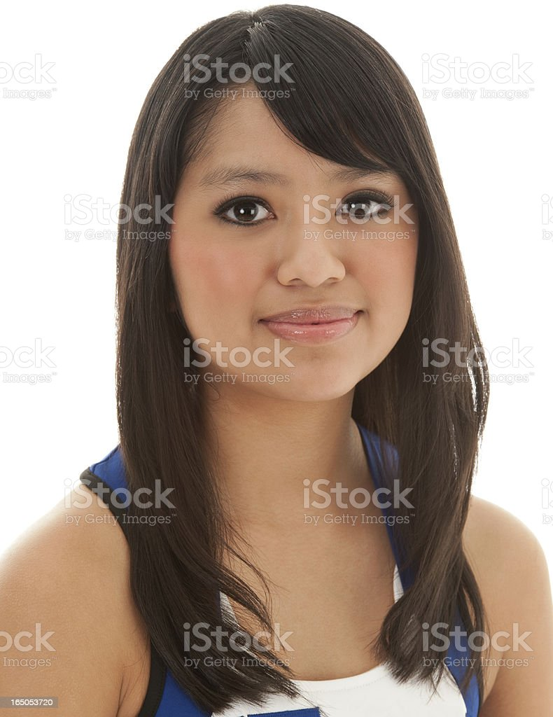 Portrait Of Asian Cheerleader Girl royalty-free stock photo