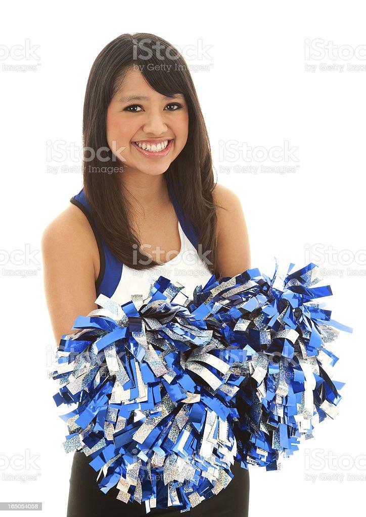 Portrait Of Asian Cheerleader Girl stock photo