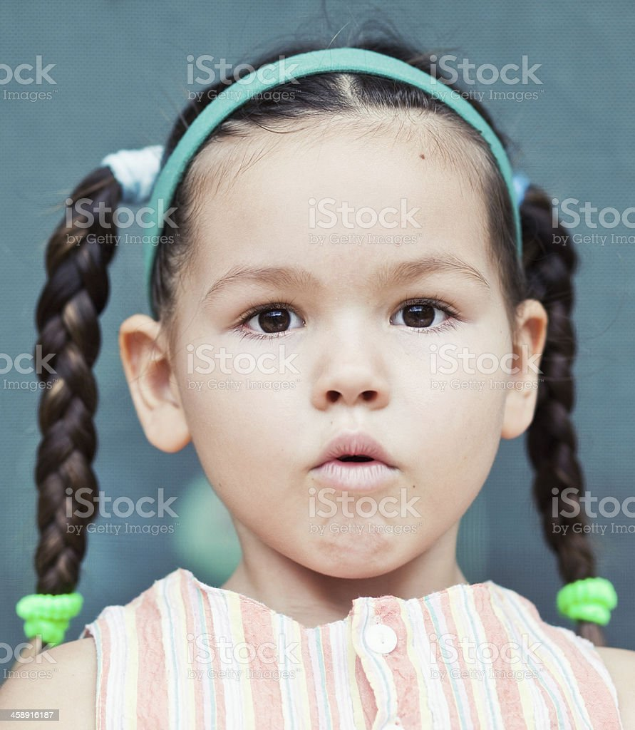 Portrait of Asian girls stock photo