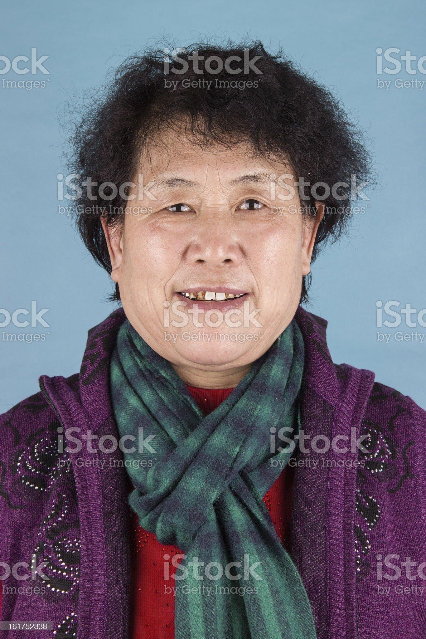 portrait of asian senior woman royalty-free stock photo