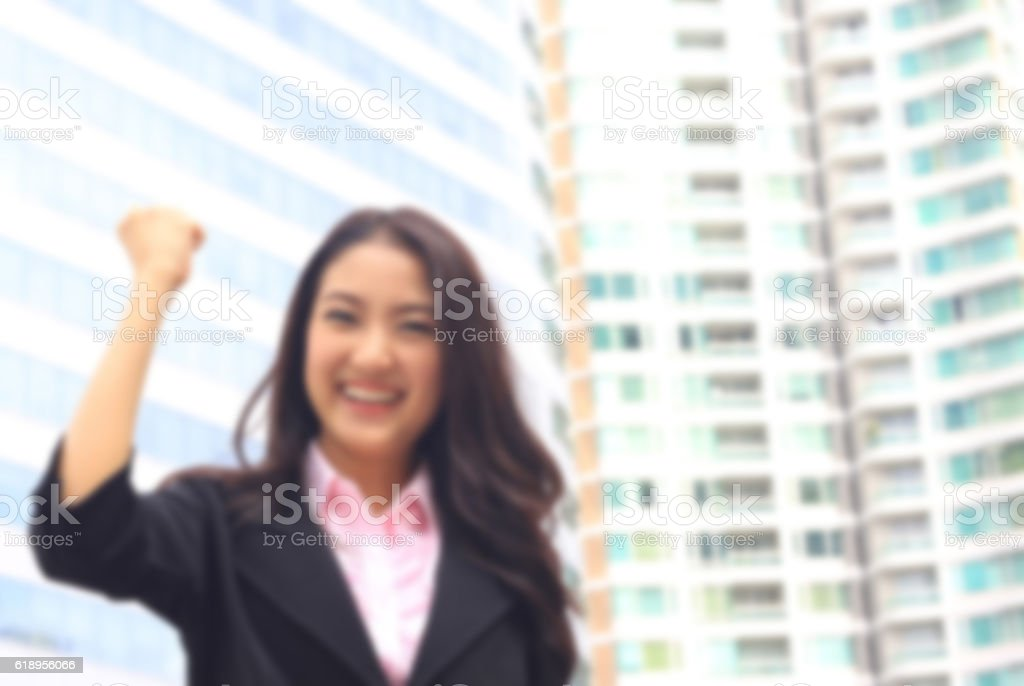 portrait of Asian woman in business suite stock photo