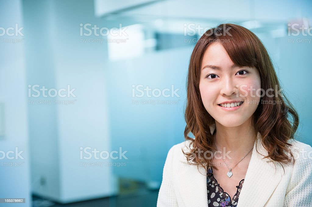 Portrait of Asian Woman in Office royalty-free stock photo