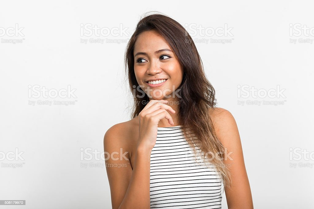 Portrait of Asian woman stock photo