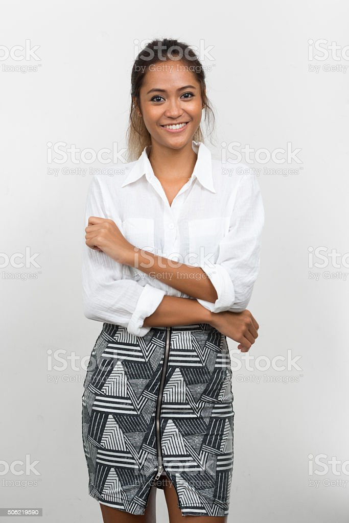 Portrait of Asian woman stock photo