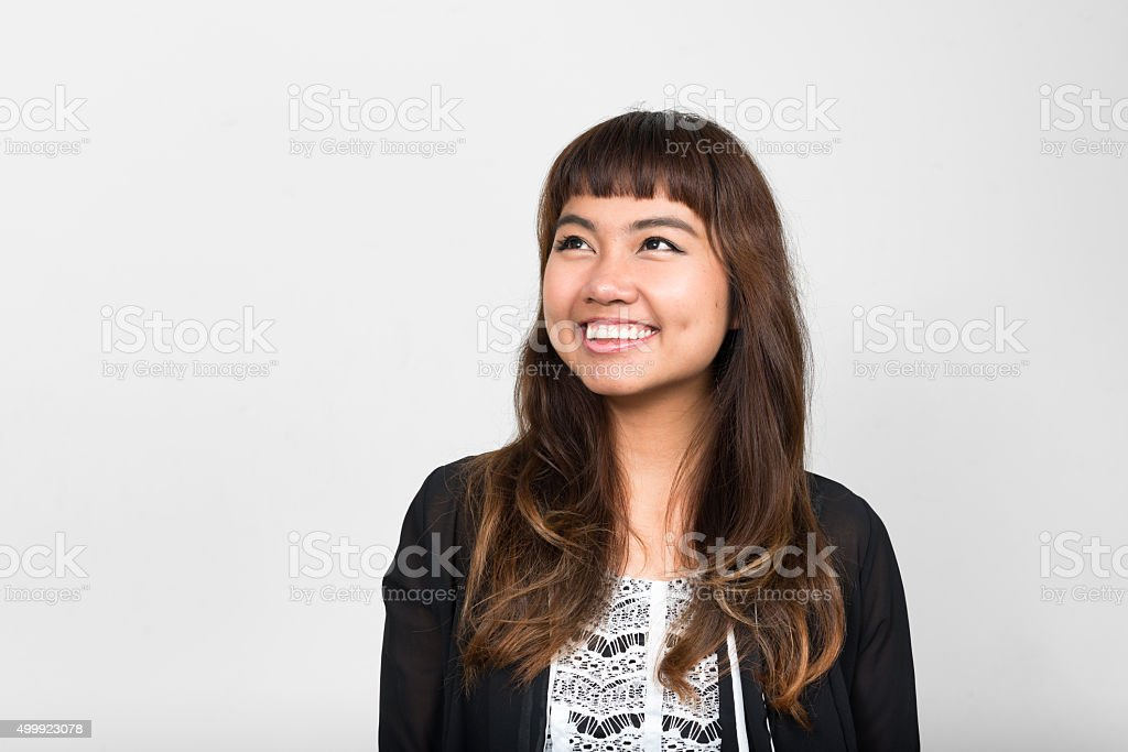 Portrait of Asian woman smiling stock photo