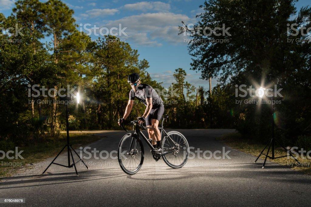 Portrait of athlete stock photo