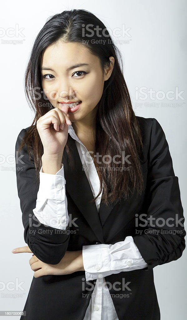 Portrait of Attractive Asian business woman royalty-free stock photo