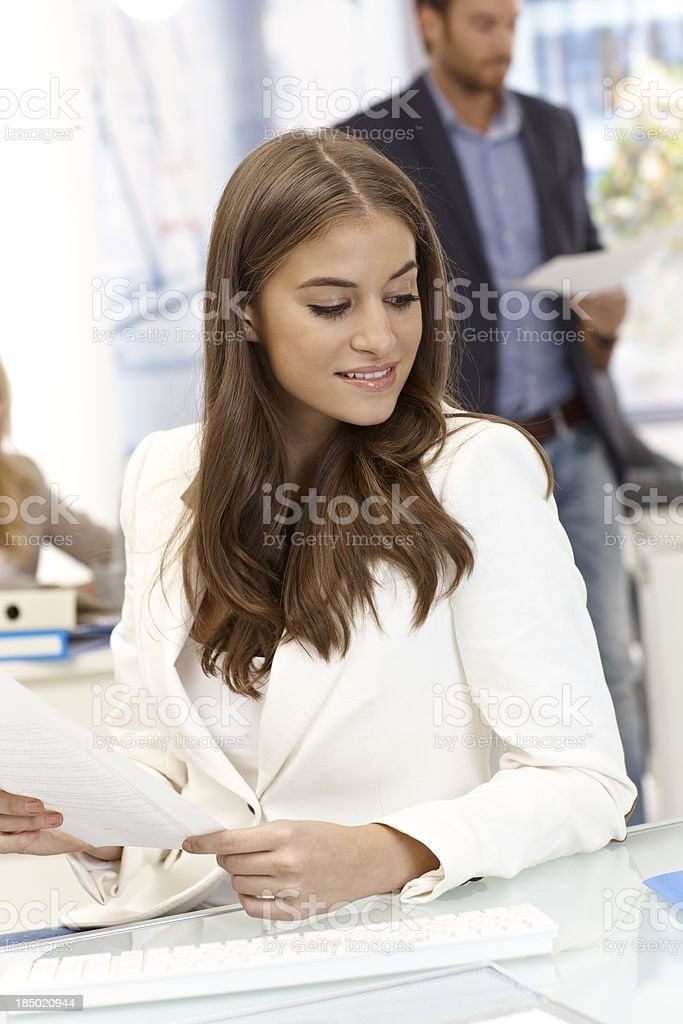 Portrait of attractive businesswoman royalty-free stock photo