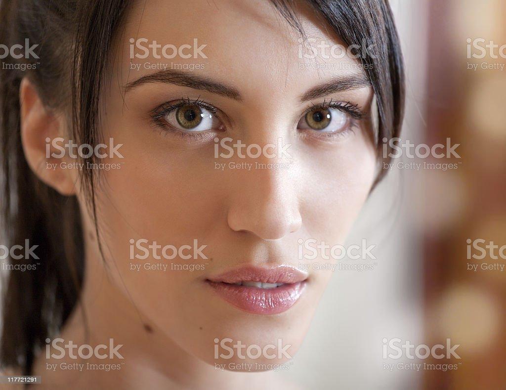 Portrait of attractive girl stock photo