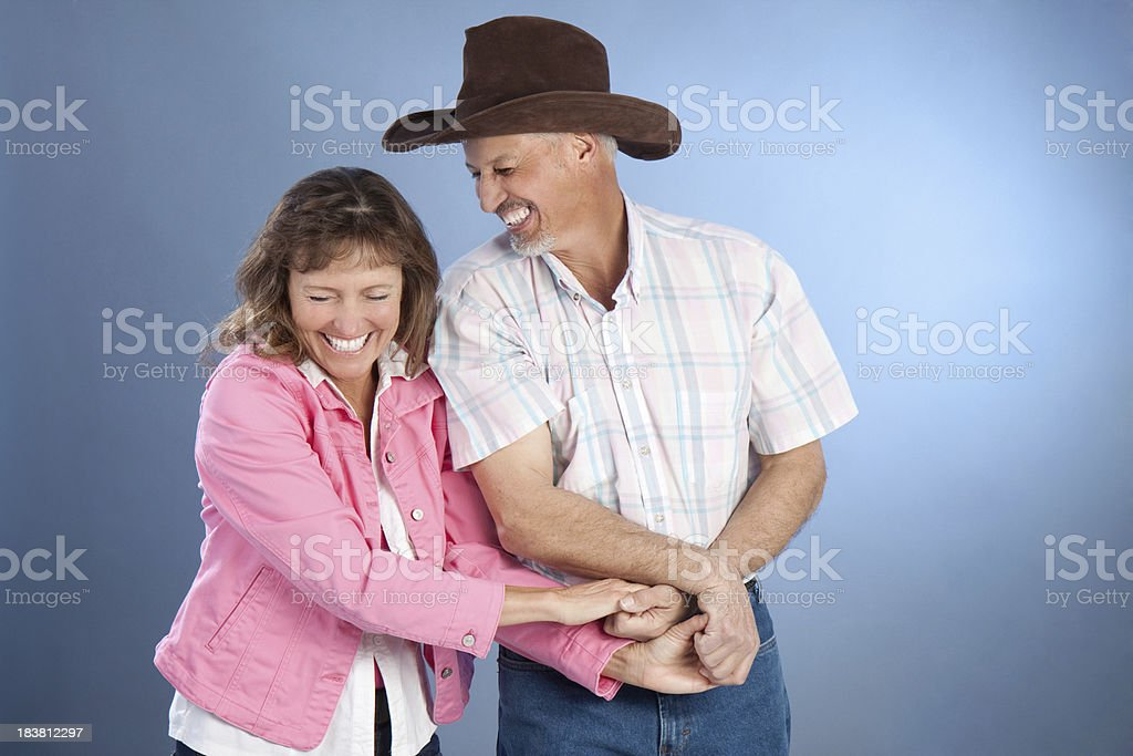 Portrait of Attractive Happy Mature Western Couple royalty-free stock photo