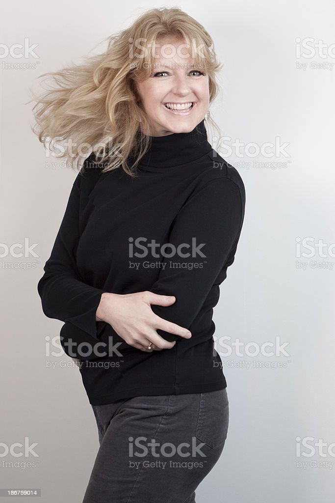 Portrait of Attractive Happy Mature Woman royalty-free stock photo