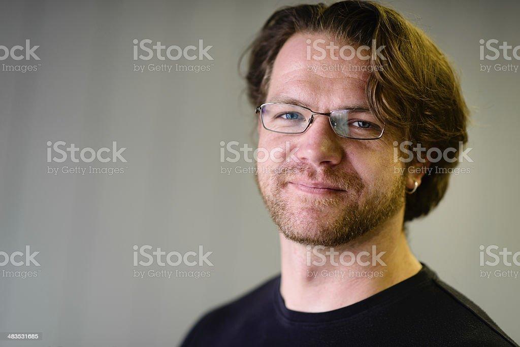 Portrait of Attractive Man - Horizontal royalty-free stock photo