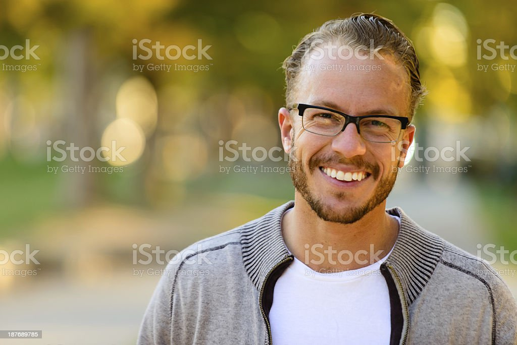 Portrait of Attractive Man stock photo
