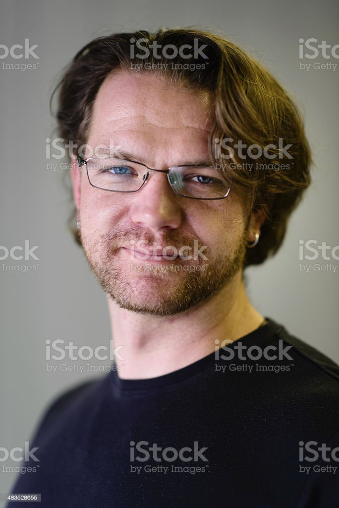 Portrait of Attractive Man - Vertical stock photo