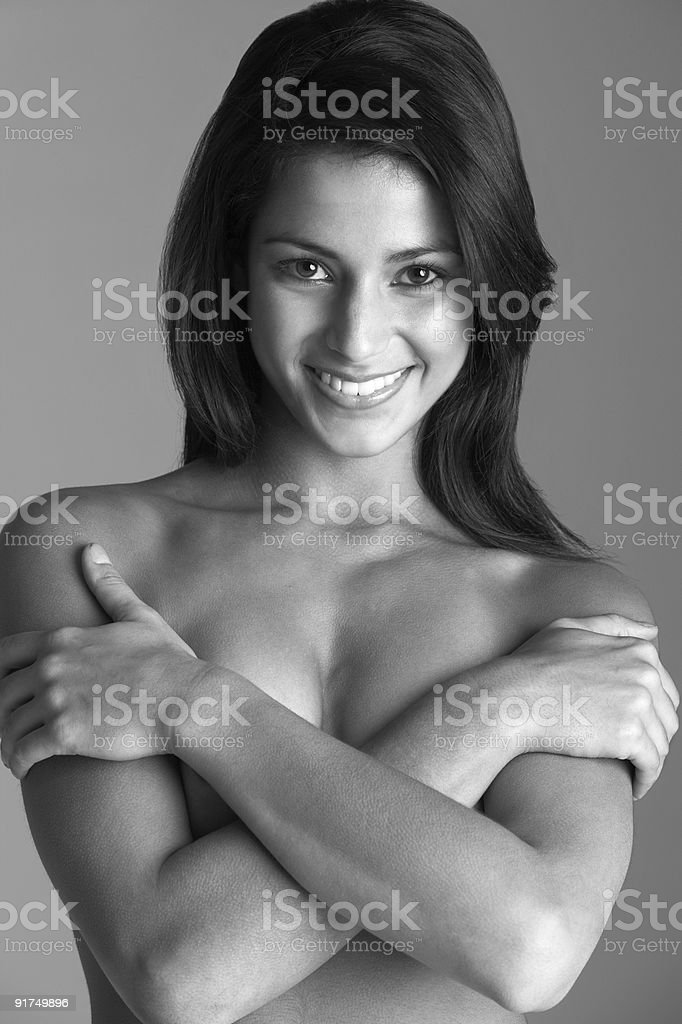 Portrait Of Attractive Naked Woman royalty-free stock photo