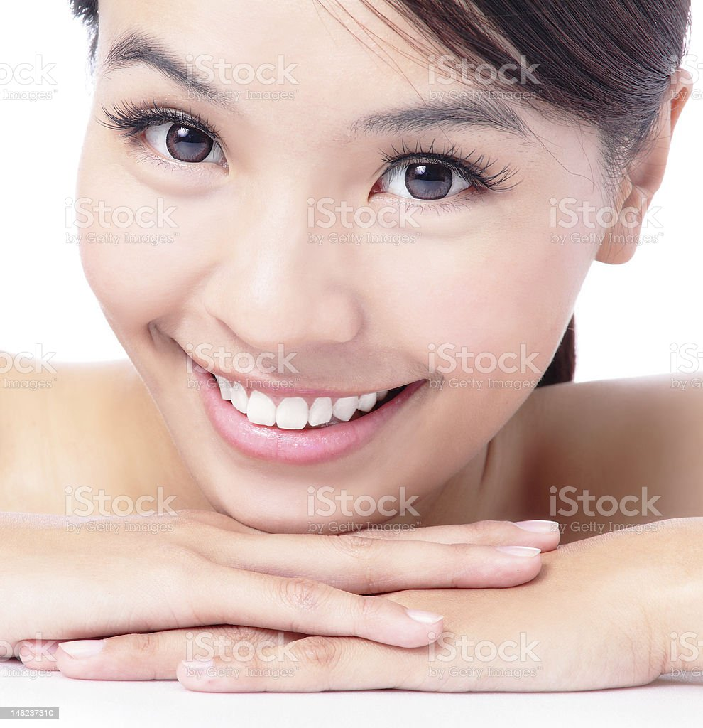 portrait of attractive woman smile royalty-free stock photo
