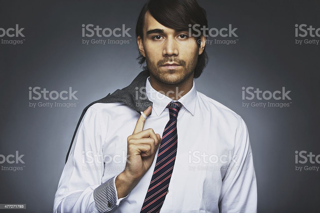 Portrait of attractive young businessman stock photo