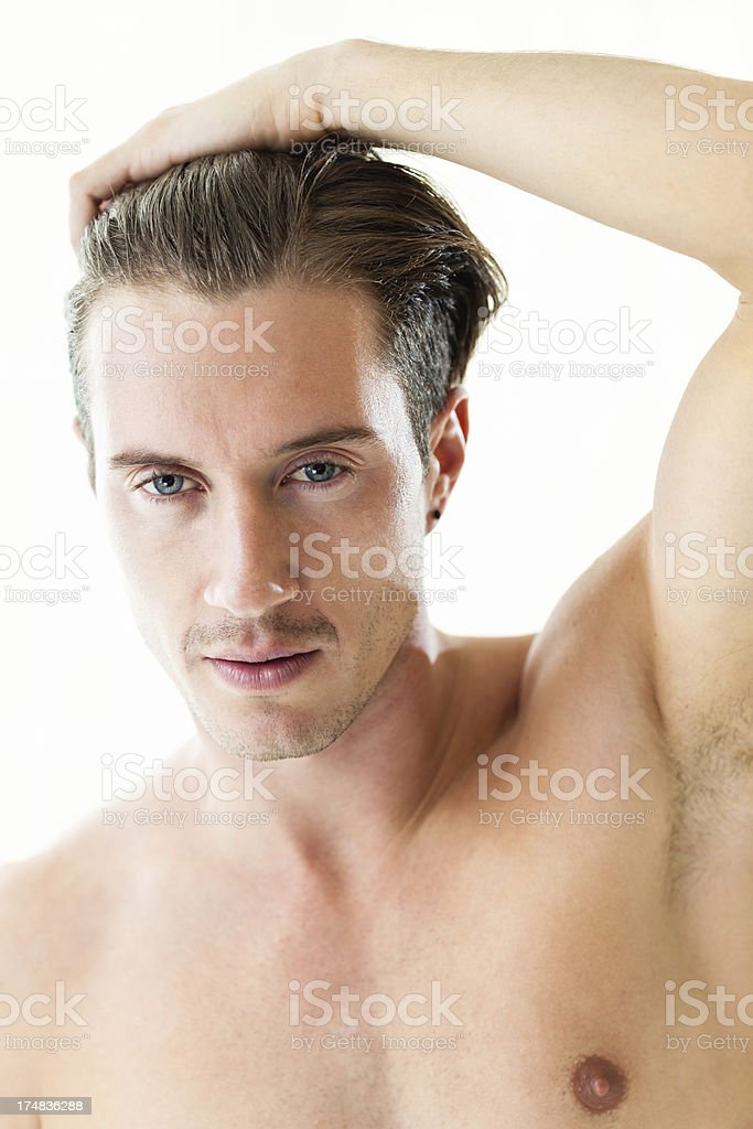 Portrait of attractive young man royalty-free stock photo