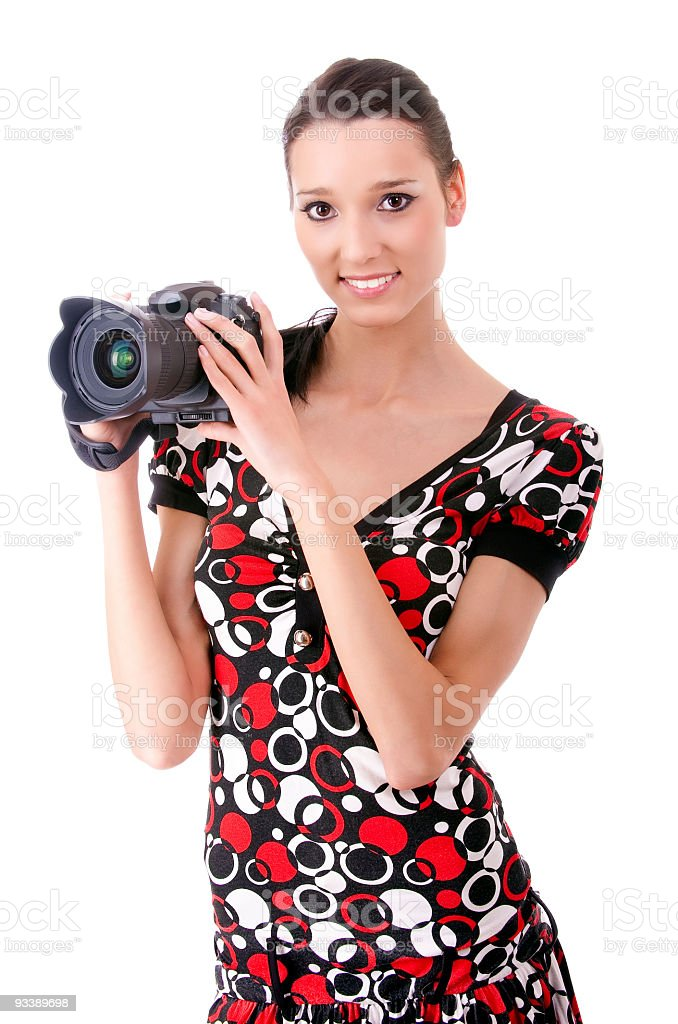Portrait of attractive young woman royalty-free stock photo