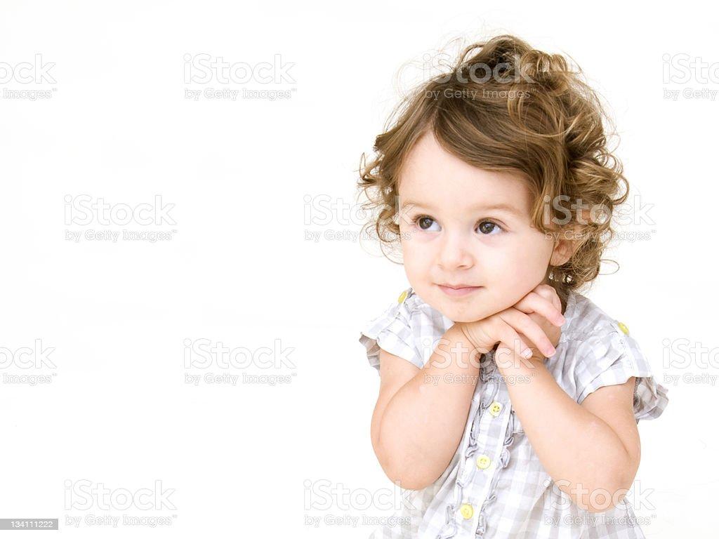 Portrait of Baby Girl Posing royalty-free stock photo