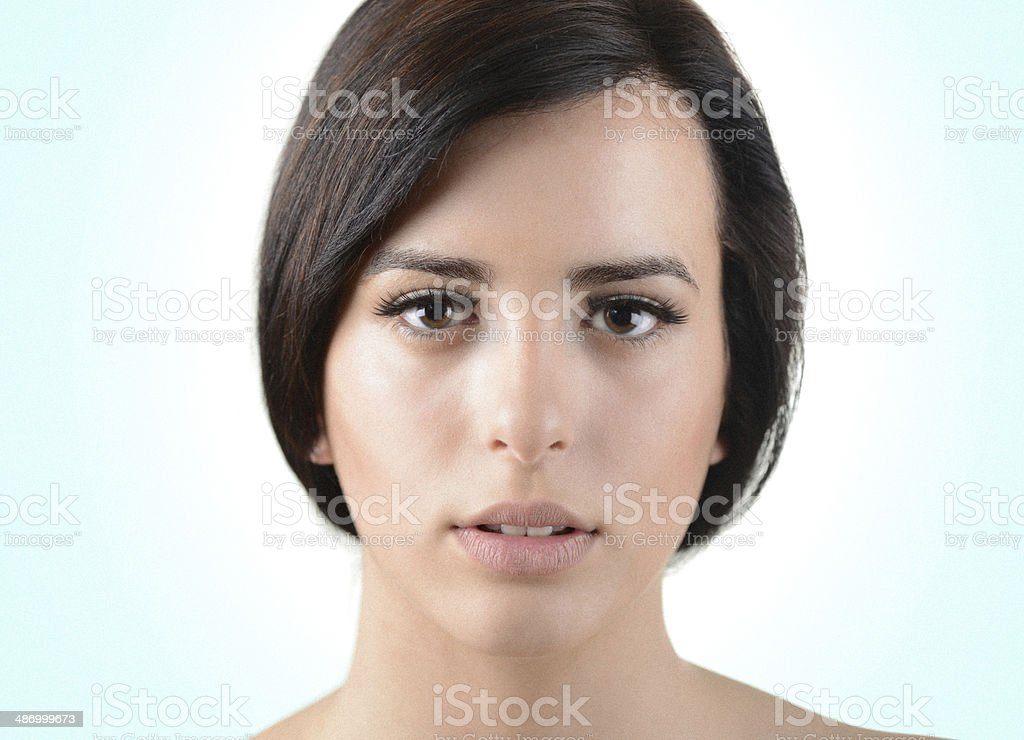 Portrait of beautful young woman with perfect skin and makeup royalty-free stock photo
