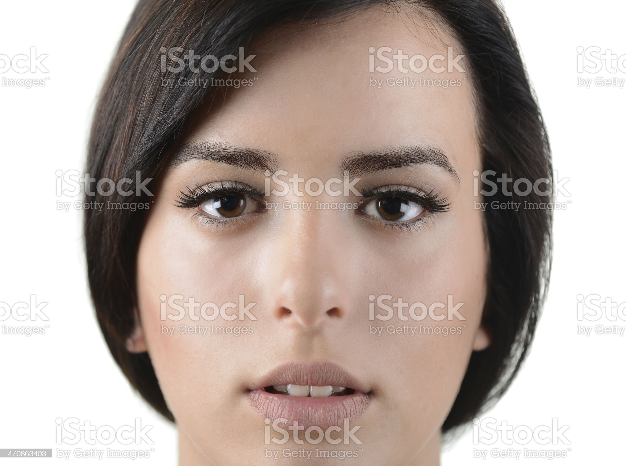 Portrait of beautful young woman with perfect skin and smile royalty-free stock photo