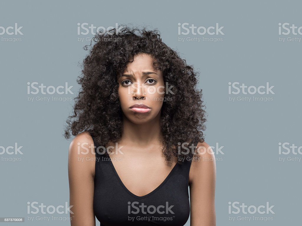 Portrait of beautiful african american femal stock photo