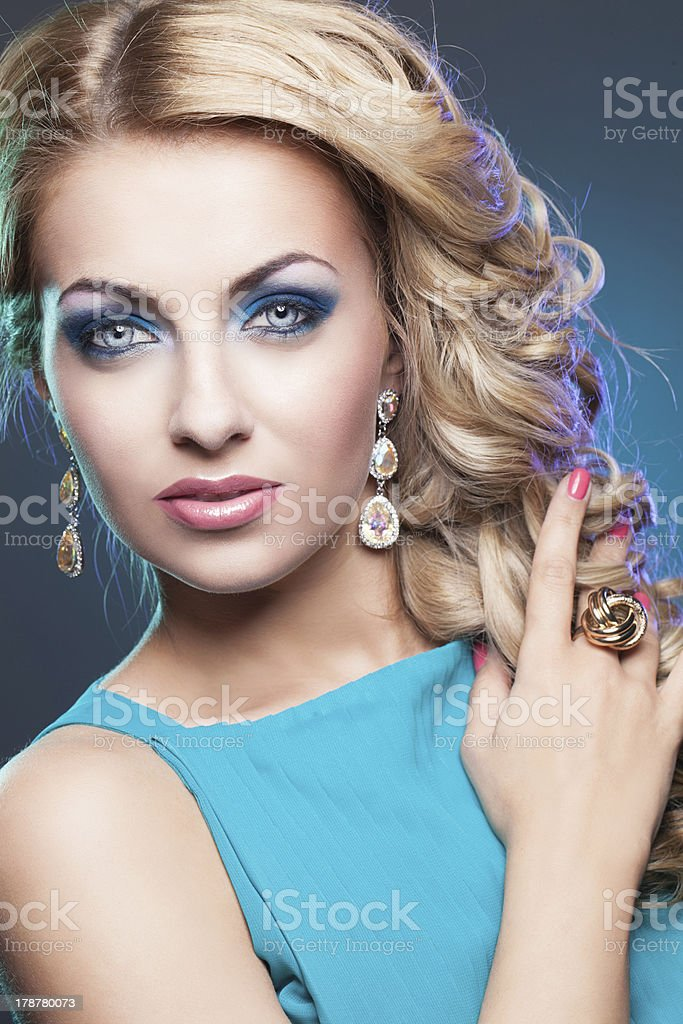 Portrait of beautiful blond girl royalty-free stock photo