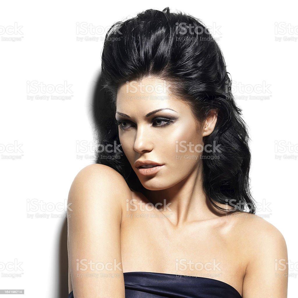 Portrait of beautiful brunette woman royalty-free stock photo