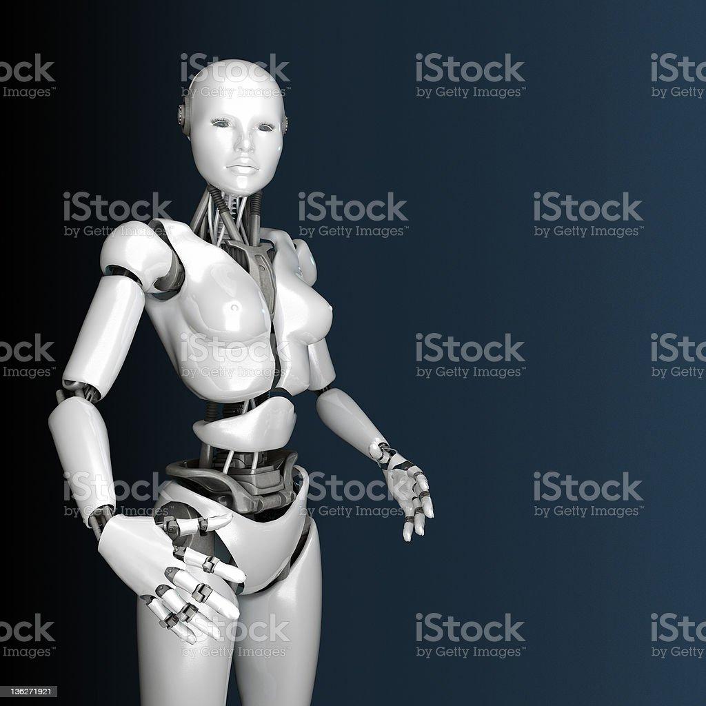 Portrait of beautiful cyborg woman royalty-free stock photo
