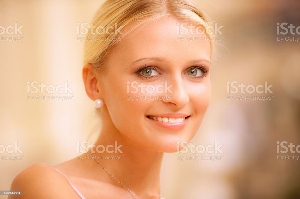 Portrait of beautiful fair-haired girl royalty-free stock photo