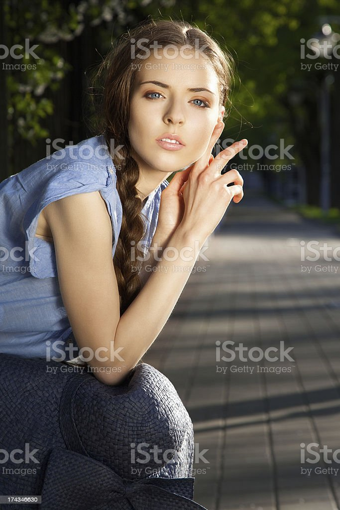 Portrait of beautiful girl royalty-free stock photo