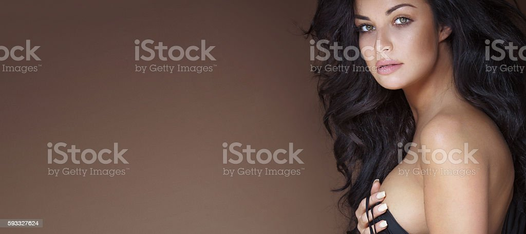 Portrait of beautiful girl . stock photo