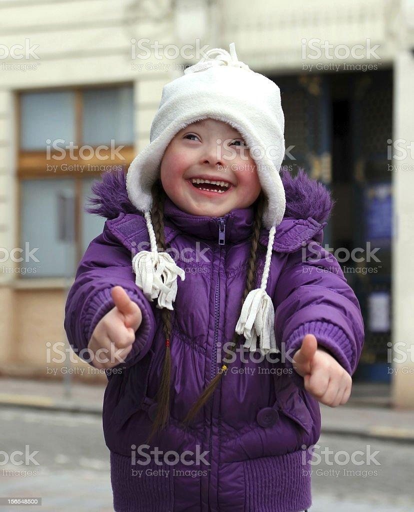 Portrait of beautiful happy girl. royalty-free stock photo