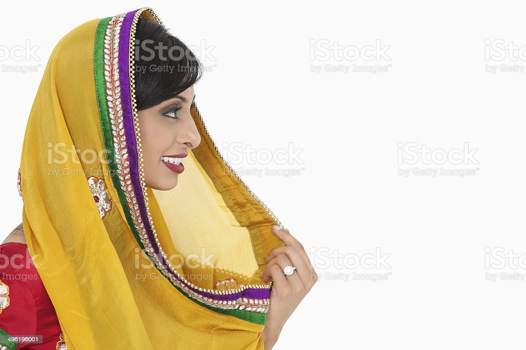 Portrait of Beautiful Indian woman stock photo