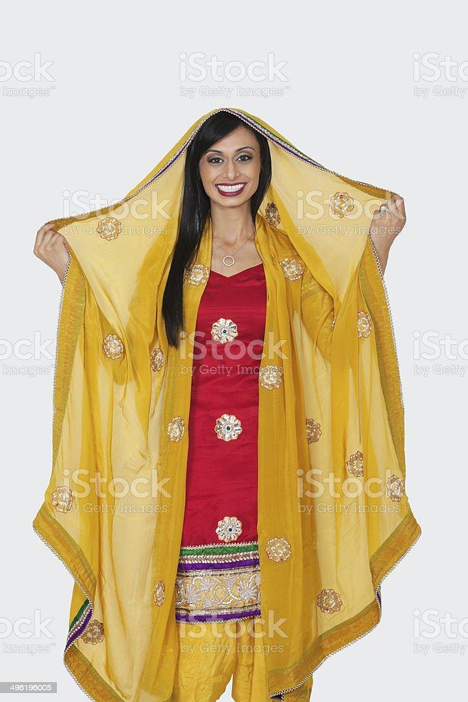 Portrait of Beautiful Indian woman stock photo