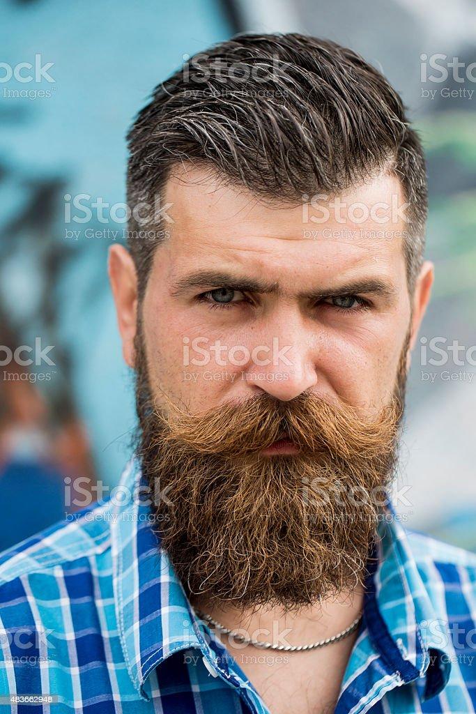 Portrait of beautiful man outdoor stock photo